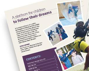 In2Action Activity Adventure Brochure Design