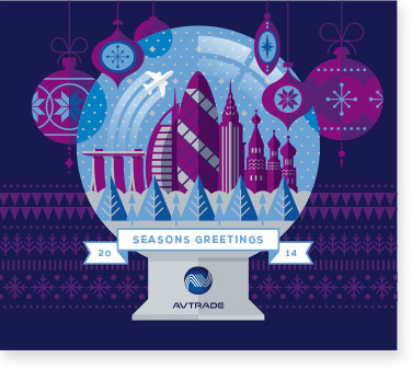 Corporate Christmas Card Designs and Printing for Avtrade