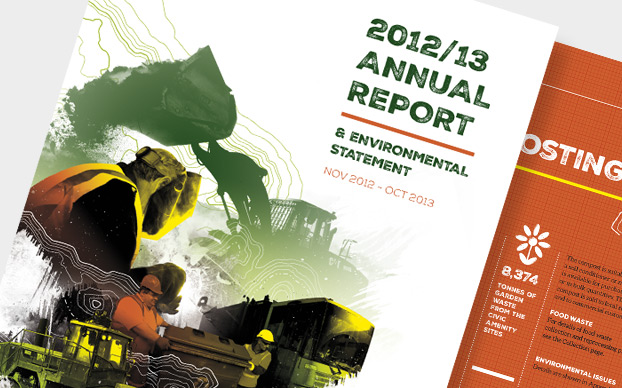 Annual Report Design and Printing Island Waste