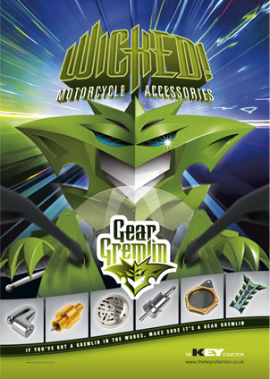 Press Advertising Campaign Designs for Gear Gremlin
