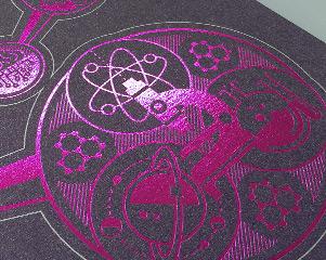 Prospectus Design Foil Printing for IOW College STEM