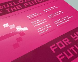 Prospectus Design UV Printing for IOW College STEM