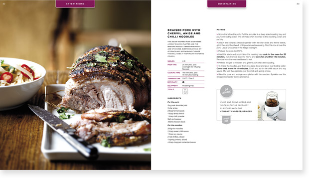 Kenwood Cookbook Design Spread 2