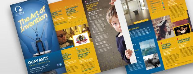 Promotional Marketing Literature Designs Quay Arts