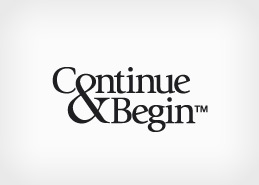Corporate Branding Design for Continue and Begin