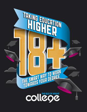 Magazine Advert Designs for IOW College