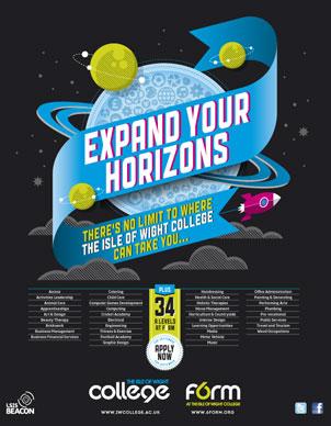 IOW College Advertising Campaign Designs: Newspaper Advert Designs ...