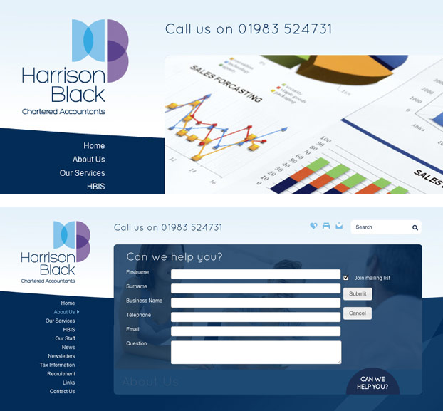 Company Website Design and Build for Accountants