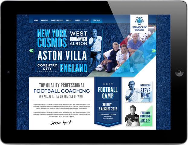 Soccer Website Design and Build for Steve Hunt