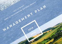 Isle of Wight AONB management plan design and printing