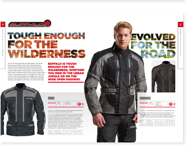 Fowlers Motorcycle Clothing Catalogue Designers