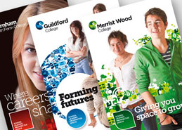 Prospectus design Guildford college