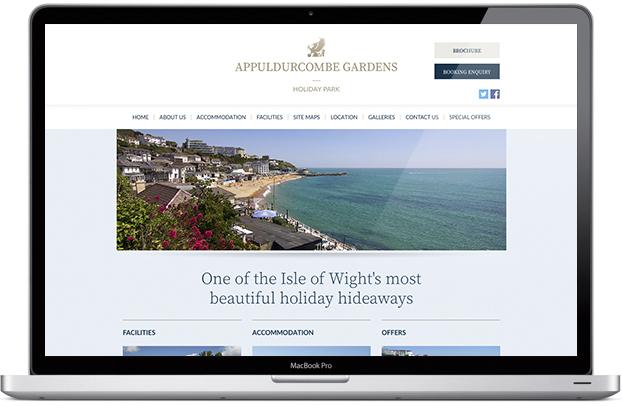 Website design for Appuldurcombe Gardens