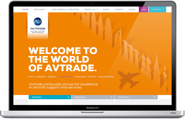 Avtrade Corporate Website Design and Build