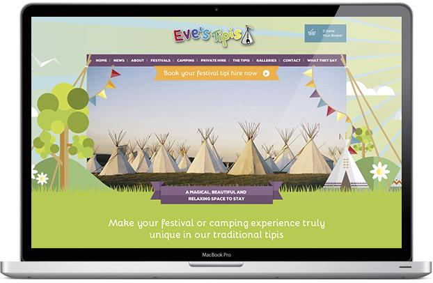 Corporate events web site design