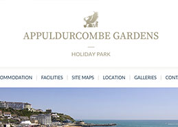 Appuldurcombe Gardens Holiday Park Website Design Portfolio Example Thumbnail