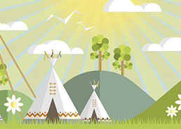 Eve's Tipis Website Design Portfolio Example Thumbnail