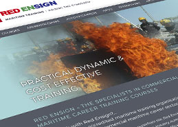 Red Ensign Website Design Portfolio Example Thumbnail