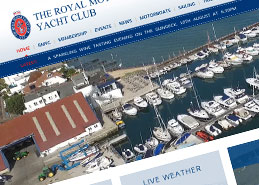 Royal Motor Yacht Club Website Design Portfolio Example Thumbnail
