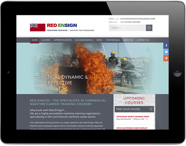 Responsive website design Red Ensign