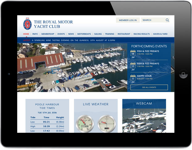 Responsive website design & build Sailing club