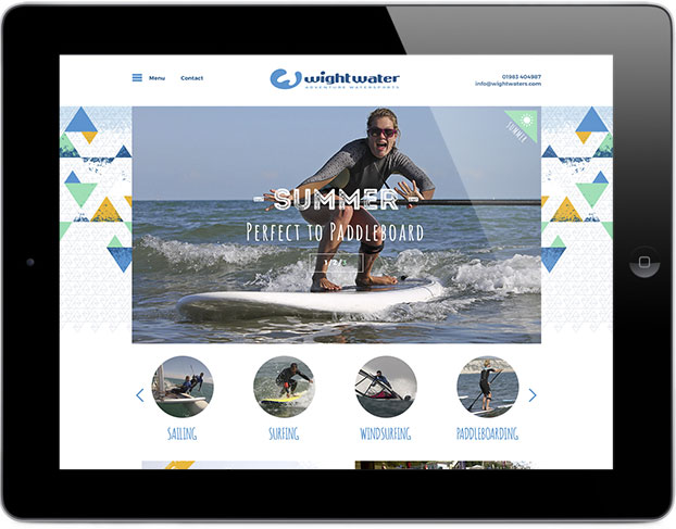 Responsive tablet sports activity website design