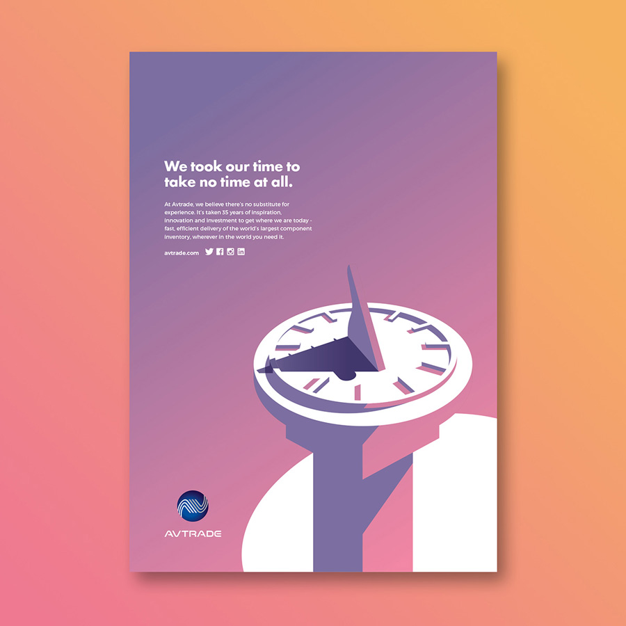 Advertising design Avtrade campaign