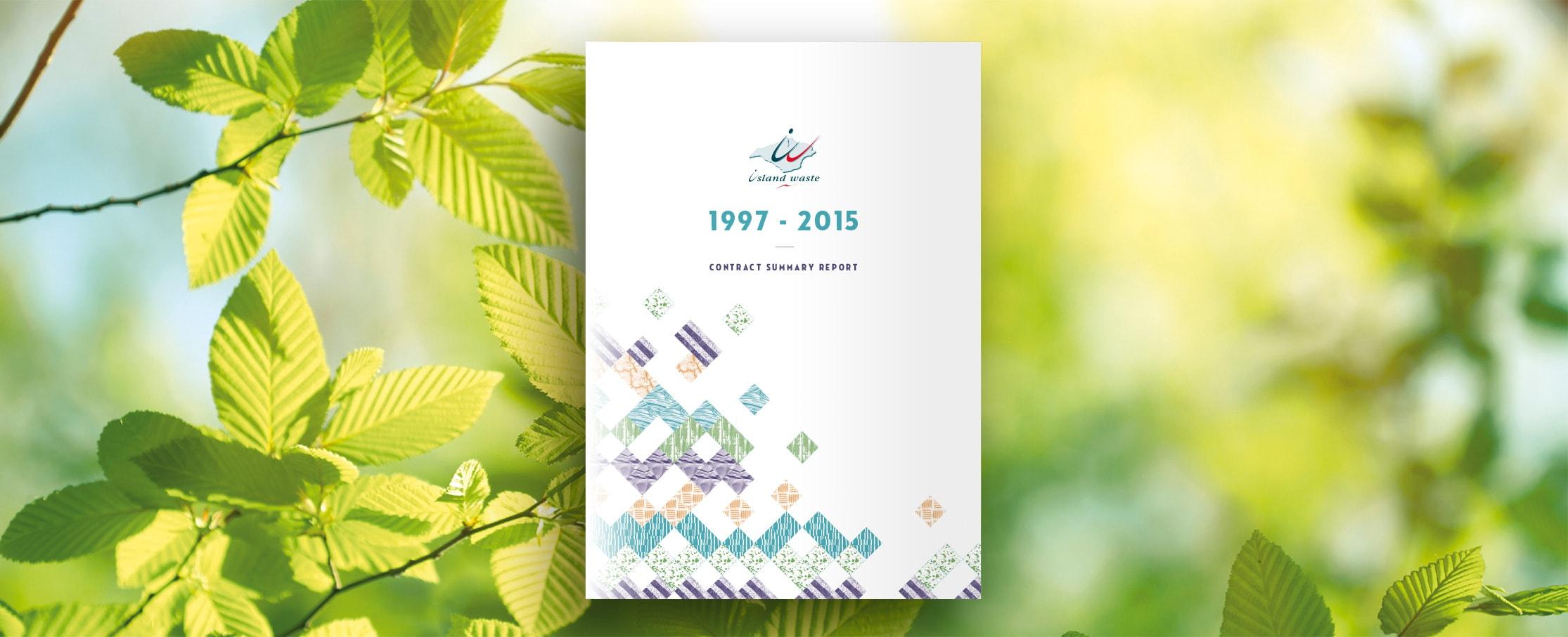 Annual report cover design Island Waste