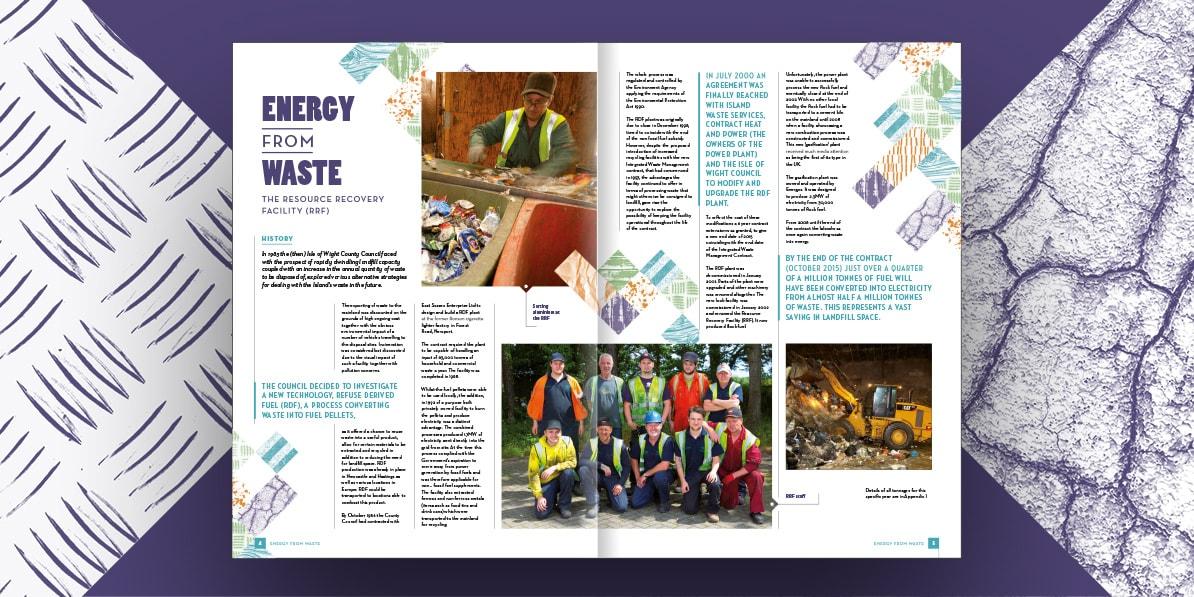 Annual report design Island Waste