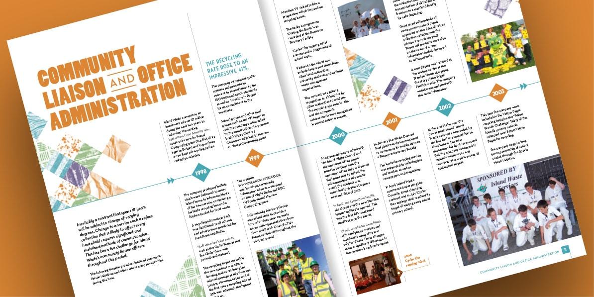 Annual report print design Island Waste