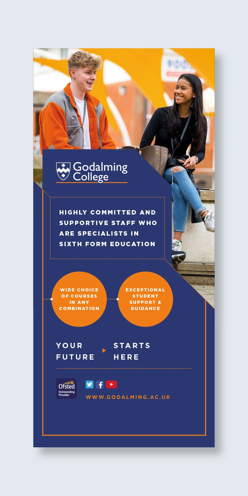 Banner advertising design Godalming College