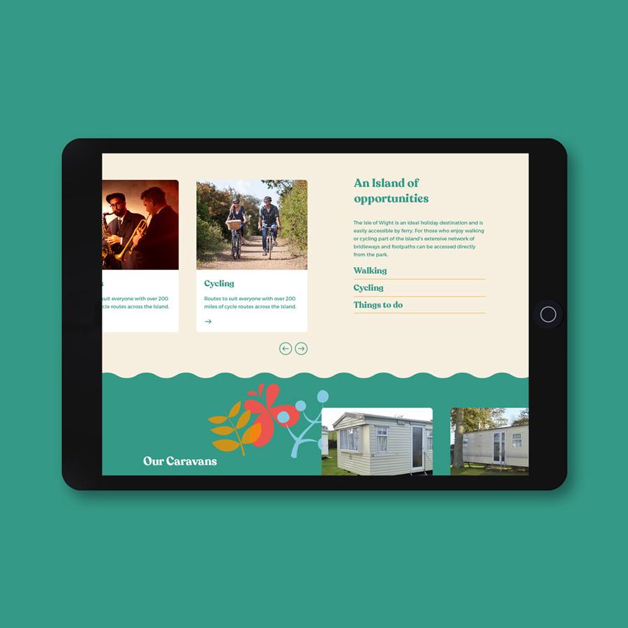 Holiday park site web design