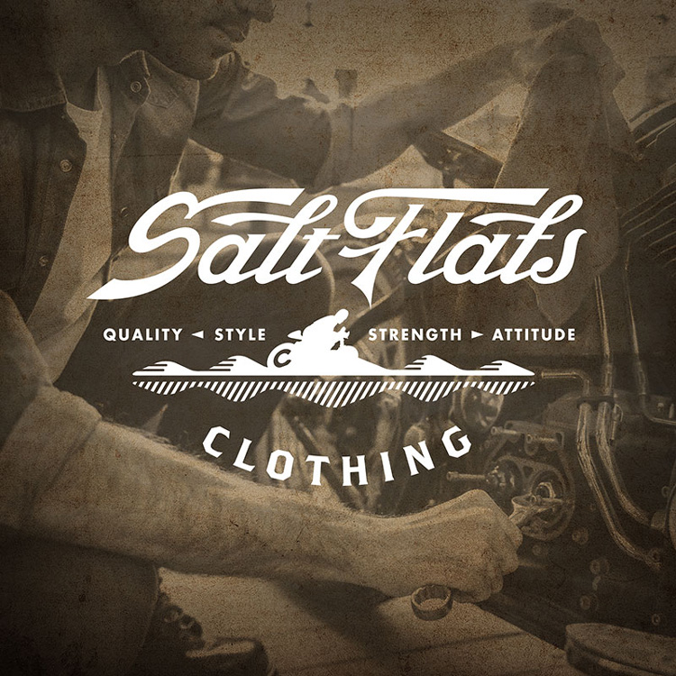 Clothing brand design Salt Flats