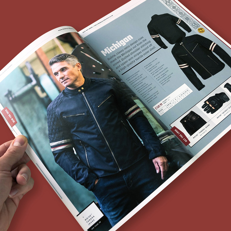 Clothing catalogue design fowlers
