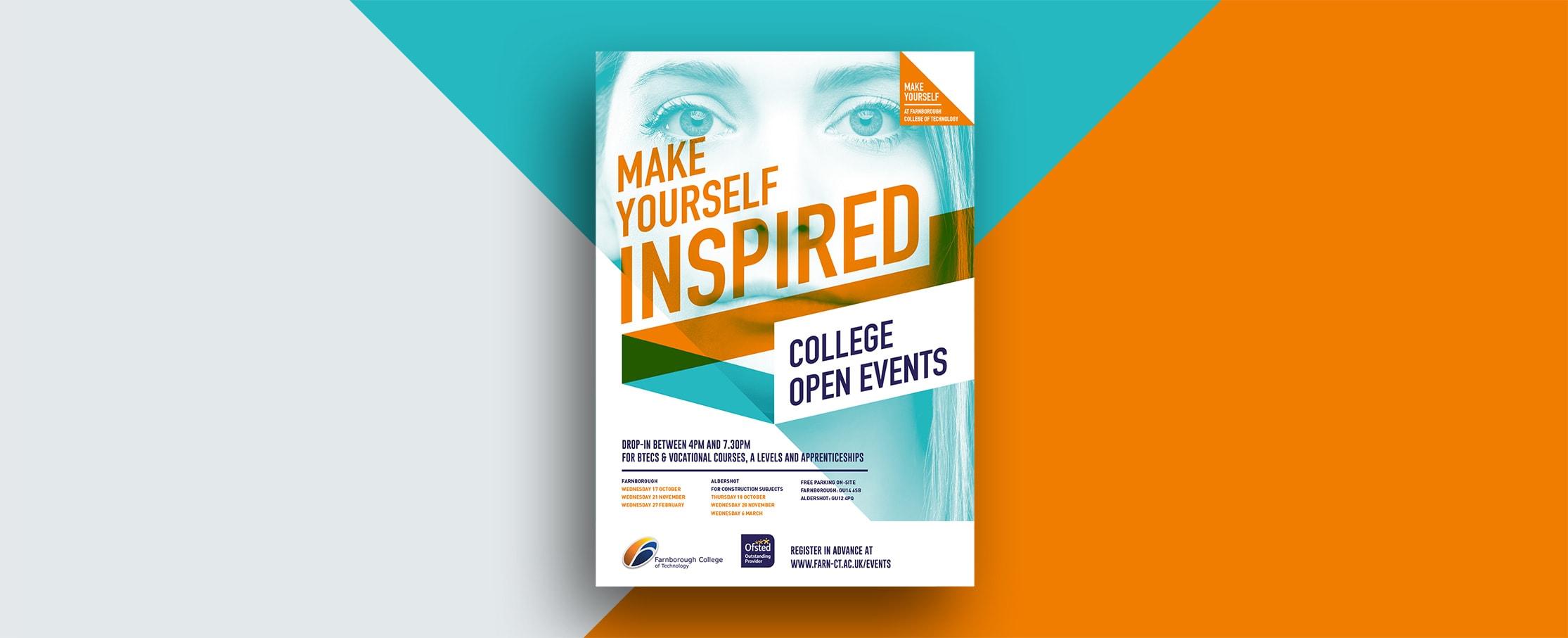 College advertising design Farnborough College