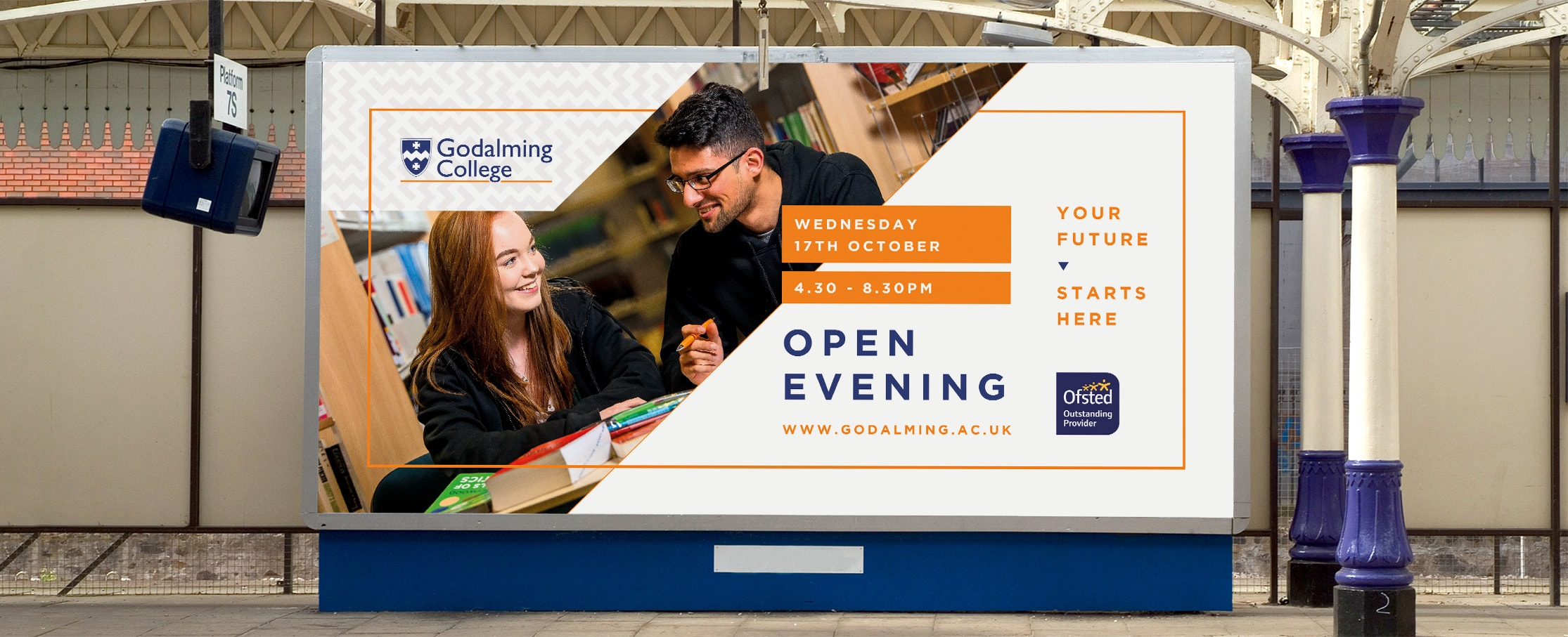 College billboard design Godalming College