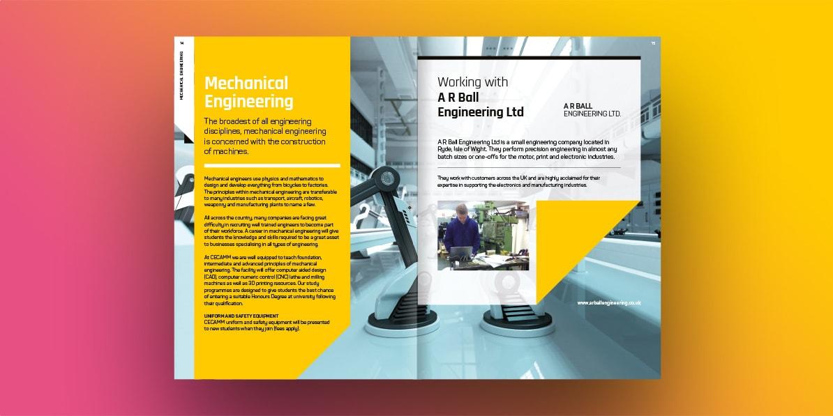 College brochure design print CECAMM college