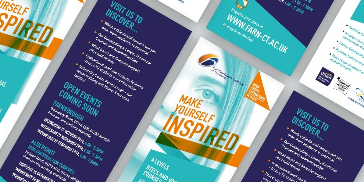 College leaflet design Farnborough College