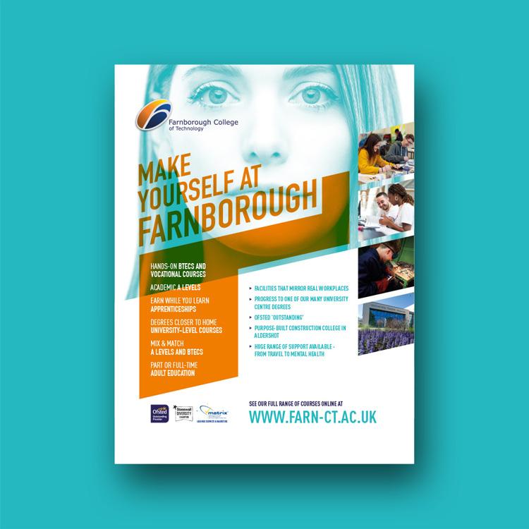 College poster design Farnborough College