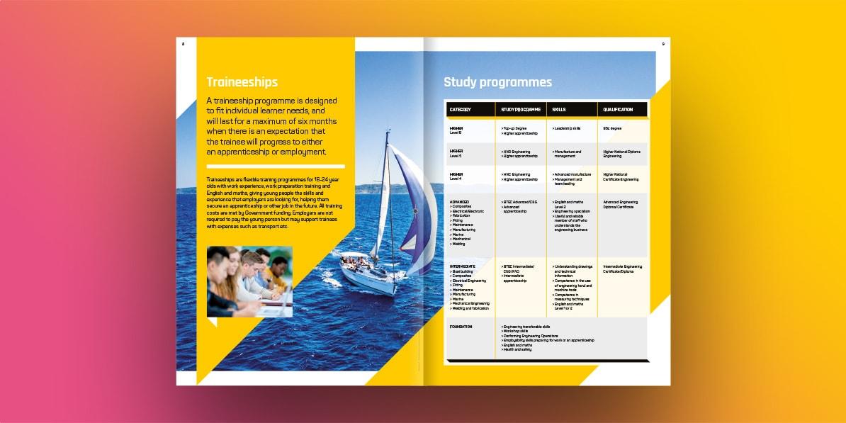 College prospectus print design CECAMM college