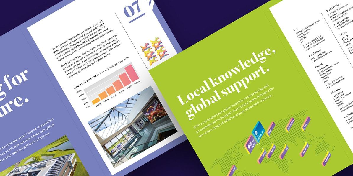 Corporate brochure design print Avtrade