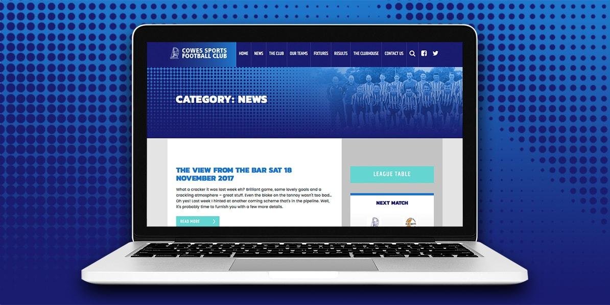 Web design development Cowes football club