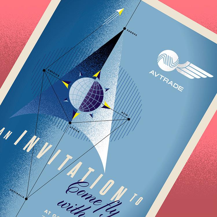 Goodwood Revival invitation retro design Avtrade