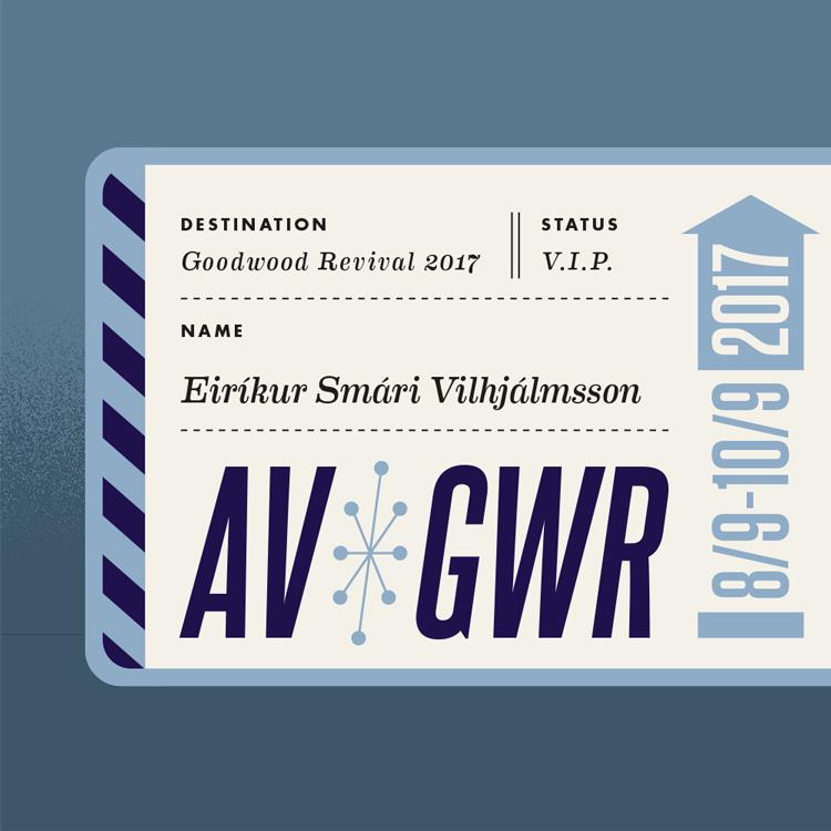 Goodwood Revival retro graphic design