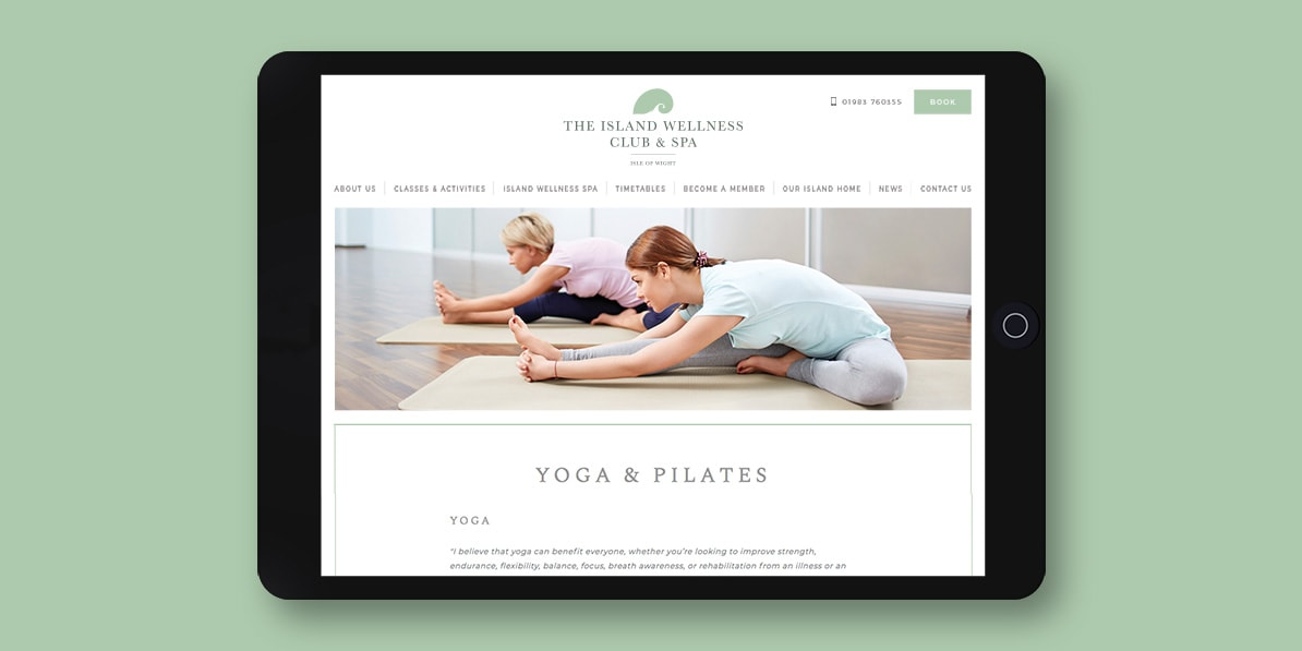 Health website design