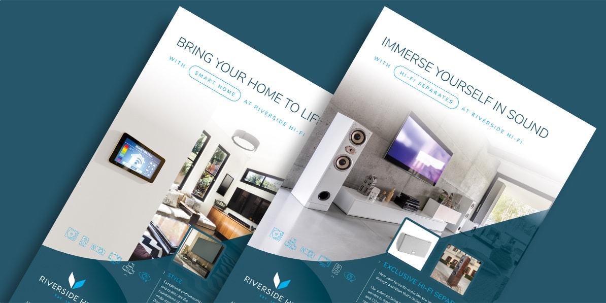 High end AV marketing design Riverside Hi-Fi