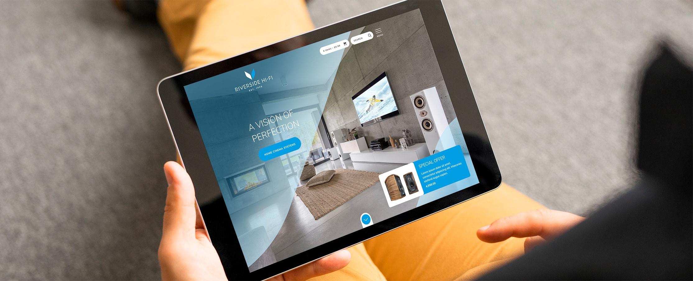 High end AV website design Riverside Hi-Fi