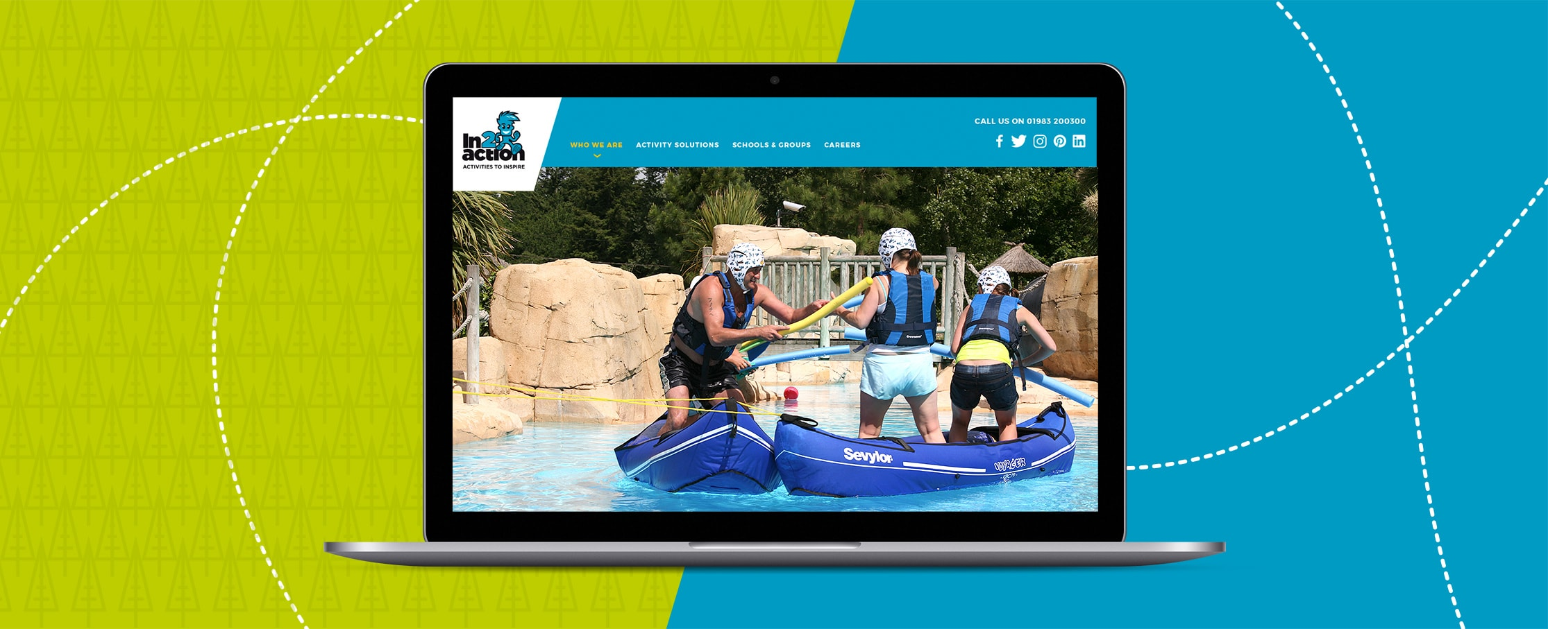 Holiday activity website design in2action