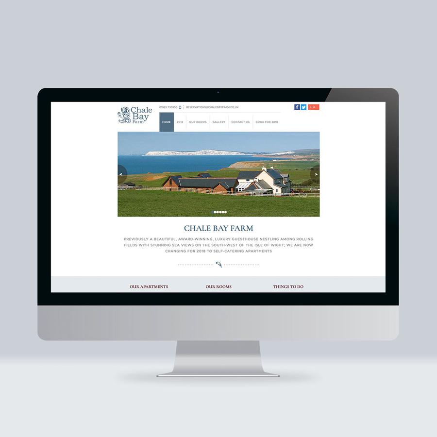 IOW guest house web design Chale Bay Hotel