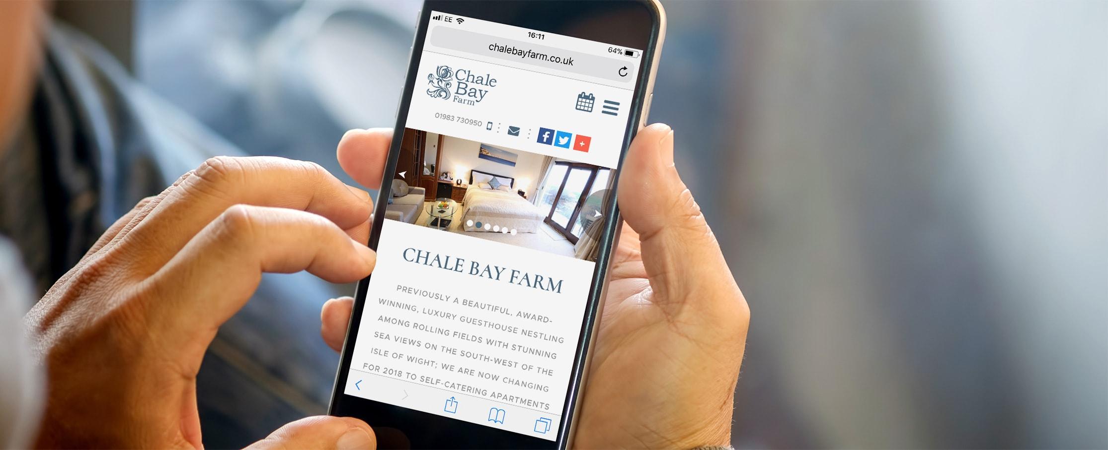 IOW mobile web design Chale Bay Hotel